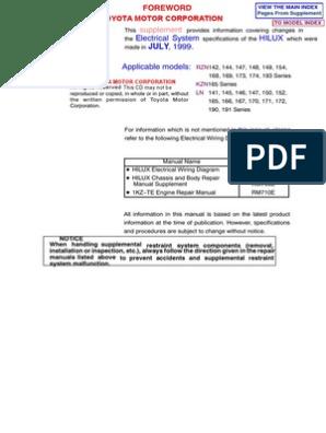 HILUX ELECTRICALSUP  EWD378F   Anti Lock Braking System