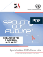 Report From UN Commission on HIV-AIDS and Governance in Africa, 2008