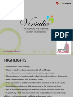 Ansal Versalia Luxury Residences with Lift and Terrace Sec-67a Gurgaon