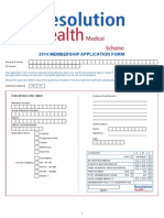 Resolution Health Medical Scheme 2014 Membership Application Form