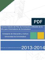 Plan de Formación y Difusión de la UEX para orientadores de Extremadura