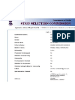 SSC - Candidate's Application Details (Registration-Id_ 51101635213)