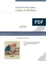 Welfare Principles
