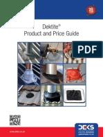 Dektite Prod Price Guide 0912