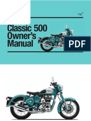 Bullet Classic 500 Owners Manual | Clutch | Traffic