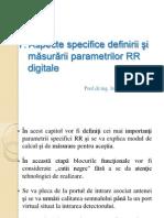 SEER 06 Aspecte Specifice Parametrilor RR Digitale