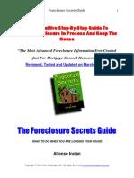 The Foreclosure Secrets Guide