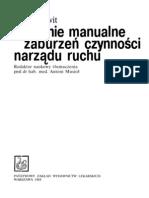 Leczenie manualne zaburzeń czynności narządu ruchu - K. Lewit