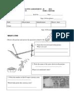 Class Cbse 4 Evs Question Paper Term 2 2012
