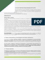 Convocatoria EIR 2013-14