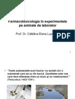 Farmacotoxicologia in Experimentele Pe Animale