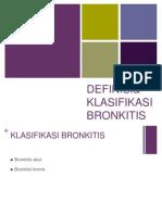 Definisi Dan Klasifikasi Bronkitis