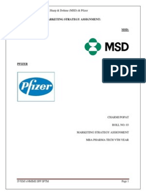 Marketing Strategies adopted by MSD & Pfizer | Merck & Co