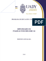 Diplomado en Paginas Web Dinamicas 2010
