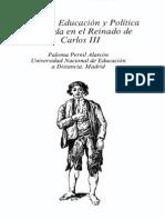 PERNIL ALARCÓN, Paloma. Caridad, educación y política ilustrada en el reinado de Carlos III