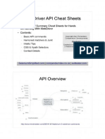 Webdriver Cheatsheets Summary