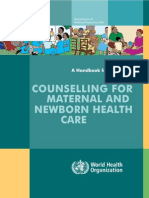 Who Conselling for Maternal and Newborn Health Care