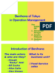 49967801 Benihana of Tokyo in Operation Management