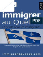 Guide Immigrer Au Quebec 2013