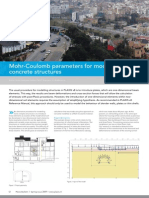 Mohr-Coulomb Parameters for Modelling of Concrete Structures