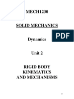MECH1230 Dynamics Unit 2 - Rigid Body Kinematics (1)