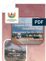 The Environmental Impacts of the Asian-China Free Trade Agreement for Countries in the Greater Mekong Sub-region