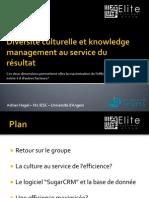 Diversité culturelle et knowledge management au service du résultat_Soutenance Adrian Nagel_M2IESC