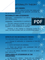 The Nationality Theory