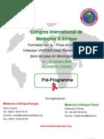 Congrès Méd'Af Tchad oct09_préprogramme
