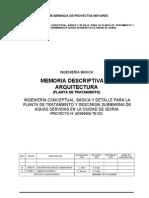 AE090901-TE1D3-GD33002 Memoria Descriptiva de Arquitetura Rev-B1
