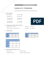 Operações em Q – Multiplicação
