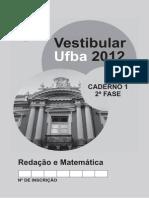 Ufba 2012 2fase Prova Matematica