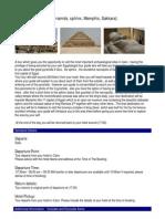 Cairo day Trip - Visit Sakkara ,Memphis,Pyramids sphinx
