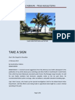 Take A Sign in South Beach