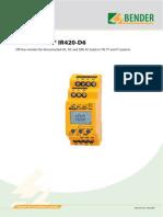 A Isometer IR420 D6