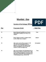 stmtt  mumbai - ajanta elora - goa  itinerary