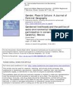 Radel2011 Gendered Livelihoods-1