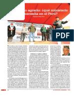 Desarrollo Agrario Que Ministerio Se Necesita El Peru