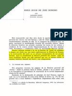 El Imposible Boom de Jose Donoso - J. Joset