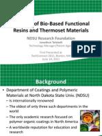 Portfolio of Bio-Based Materials Presentation