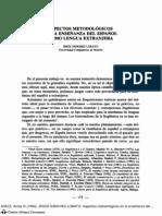 ASPECTOS METODOLOGICOS EN LA ENSEÑANZA DEL ESPAÑOL COMO SEGUNDA LENGUA