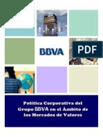 24 Politica Corporativa BBVA Mercados de Valores