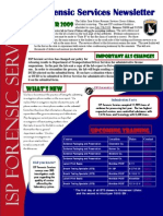 Is p Forensic Services Newsletter Summer 2009