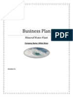 Business Plan of Mineral Water Plant
