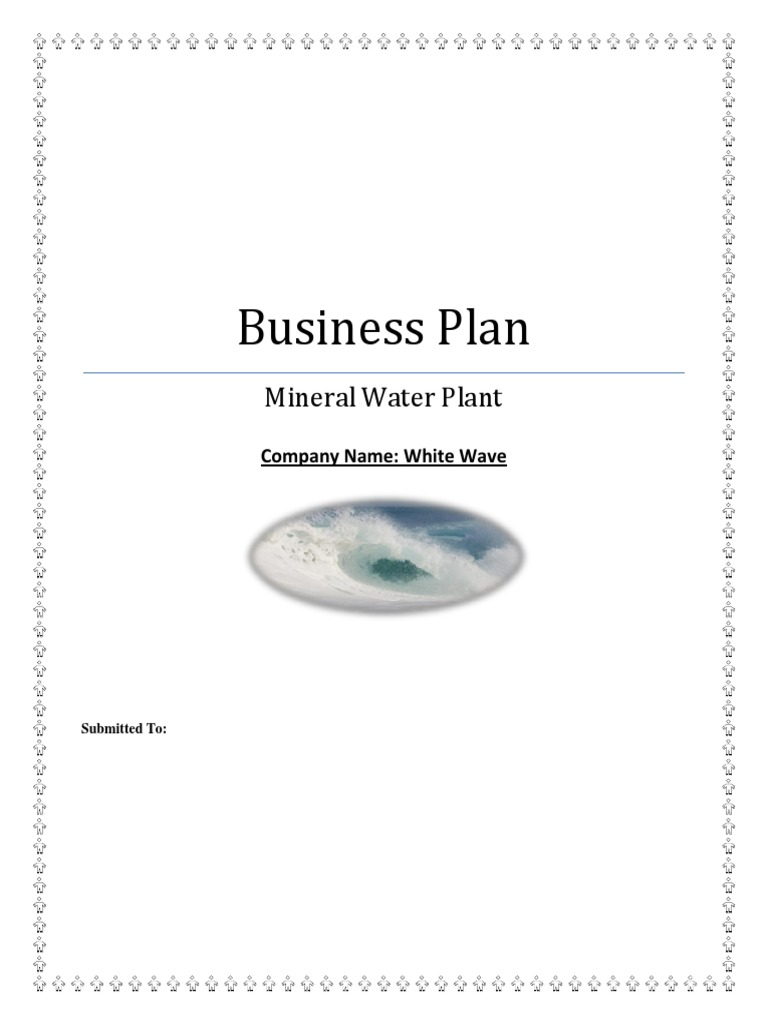 mineral water plant business plan