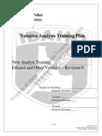 Volatiles Analysis Training Plan - Rev 1