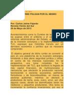 Artículo_ Santos y Uribe pelan por un mismo plato