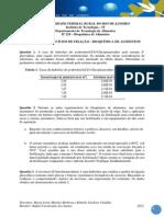 LISTA DE EXERCÍCIOS DE FIXAÇÃO _ BIOQUÍMICA DE ALIMENTOS