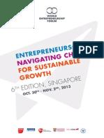 World Entrepreneurship Forum Brochure 2013