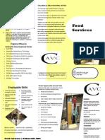 Food Service Brochure CAVC